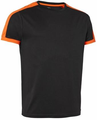 Wexman T-Shirt Quick Dry Contrast schwarz/orange