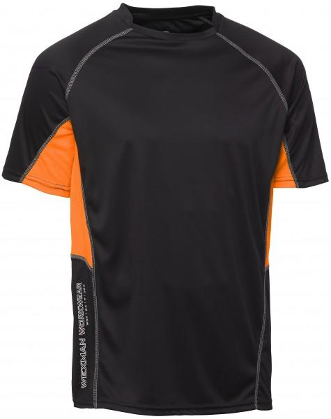 Wexman T-Shirt CoolDry schwarz/orange