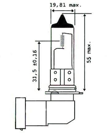 Glühbirne HB4, 12V, 51W