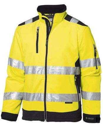 Wexman Warnjacke Softshell High-Vis Pro gelb