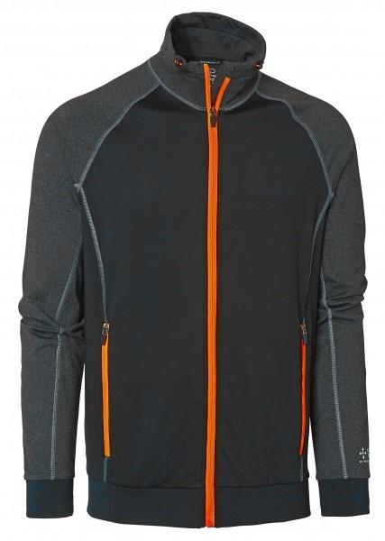 Wexman Sweater Comfort Stretch schwarz/grau/orange