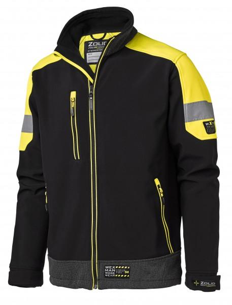 Wexman Softshelljacke Zolid Pro schwarz/gelb