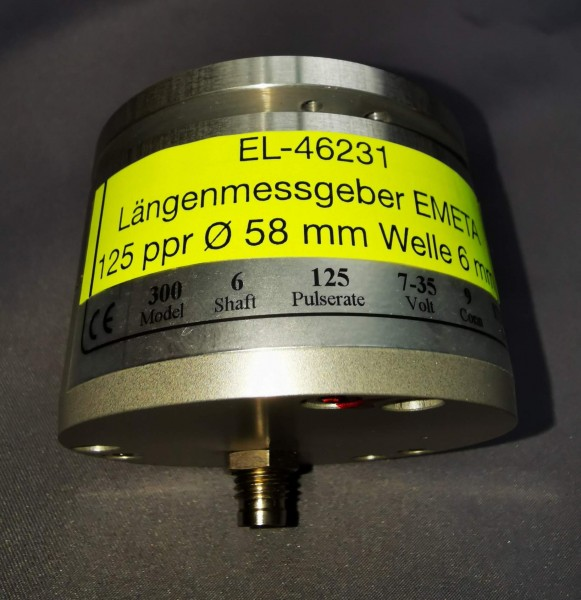 Längenmessgeber JD 125 ppr Welle 6 mm