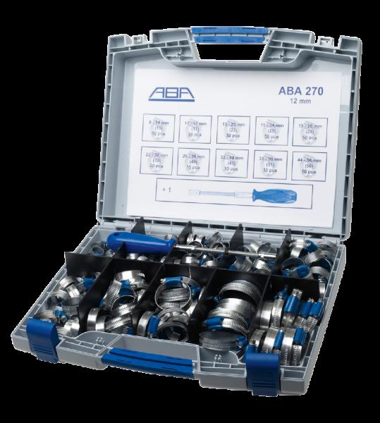 Schlauchklemmensortiment ABA 270 Stk