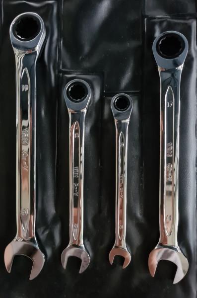 Ringratschenschlüsselsatz Bahco 4tlg. 10 - 19 mm