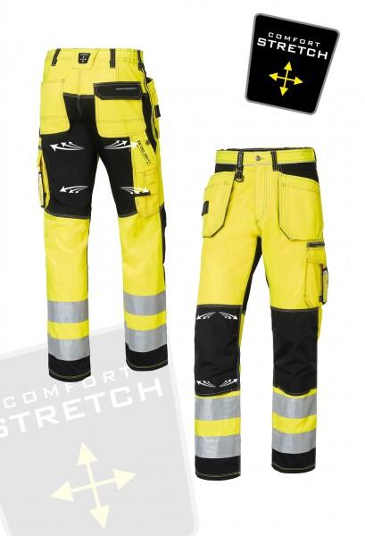 Wexman Signalhose Comfort Stretch schwarz/gelb Kl. 2