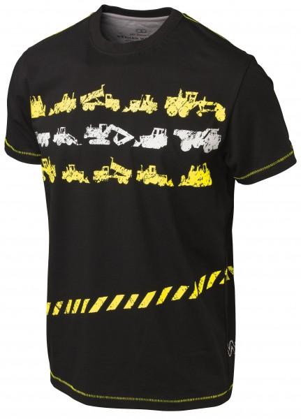 Wexman Vintage T-Shirt Junior schwarz/gelb