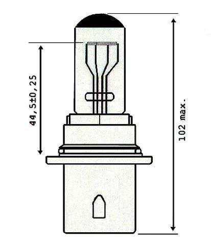 Glühbirne HB1, 12V, 65/45W