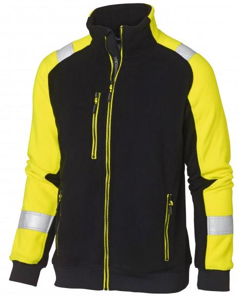Wexman Microfleecejacke schwarz/gelb