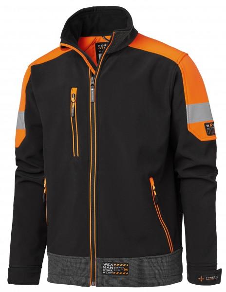 Wexman Softshelljacke FL schwarz/orange