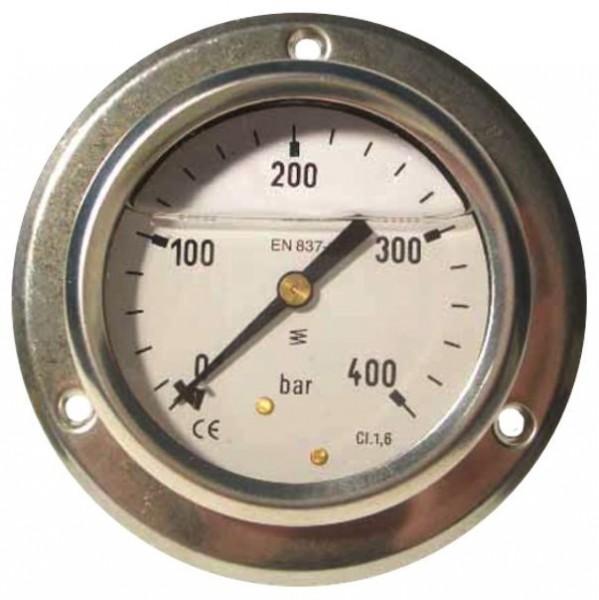 Manometer 0-100 bar/Anschluß hinten