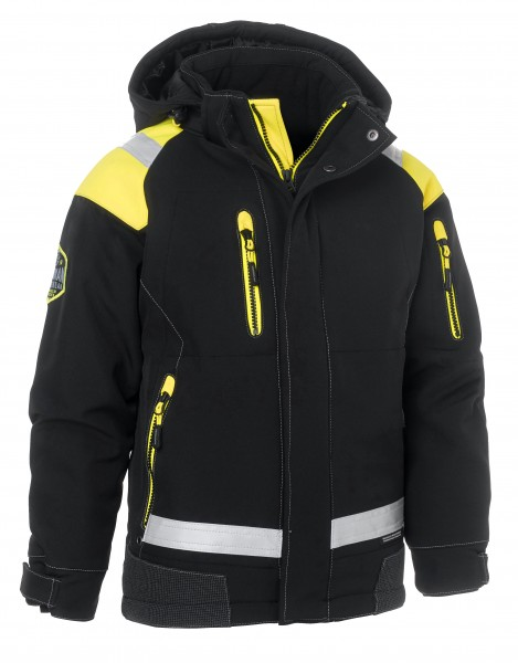 Wexman Junior Winterjacke Zolid Pro schwarz/gelb