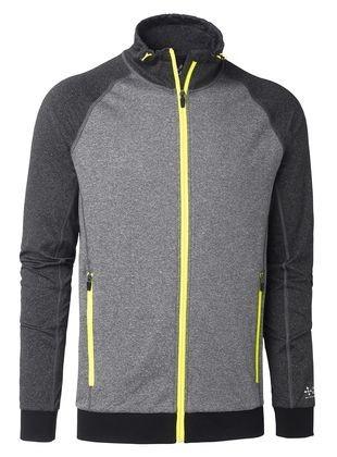 Wexman Sweater Comfort Stretch grau/gelb
