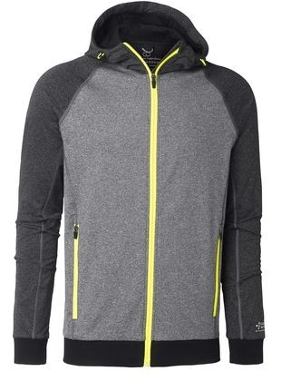 Wexman Kapuzensweater Comfort Stretch grau/gelb