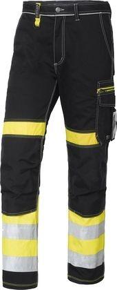 Wexman Hose Comfort Stretch Kl. 1 schwarz/gelb