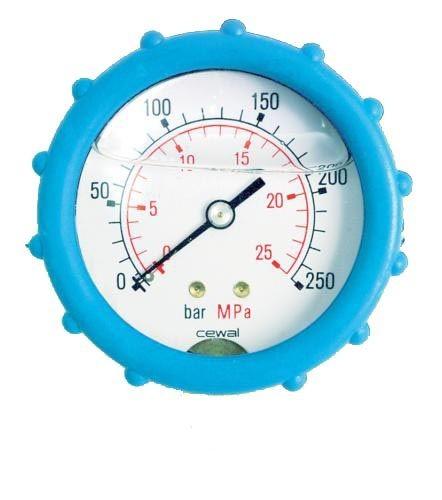 Manometer 0-250 bar/Anschluß hinten