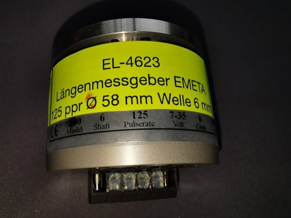 Längenmessgeber TJ 125 ppr Welle 6 mm