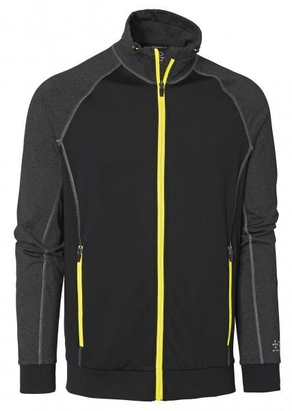 Wexman Sweater Comfort Stretch schwarz/grau/gelb