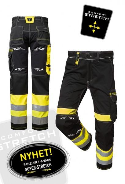 Wexman Hose Comfort Super Stretch Kl. 1 schwarz/gelb