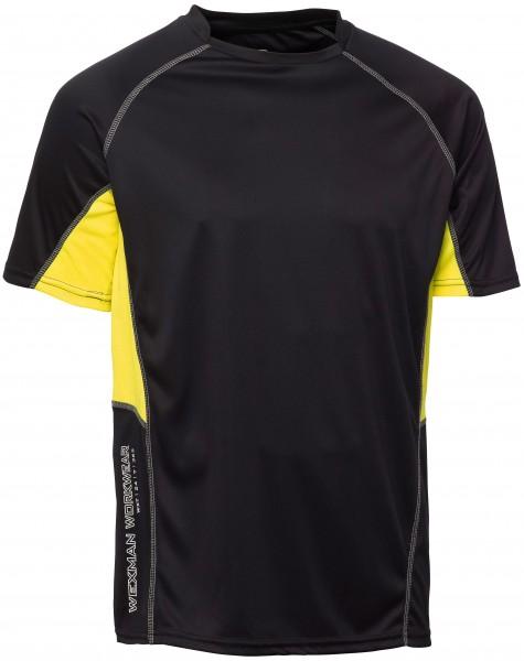 Wexman T-Shirt CoolDry schwarz/gelb