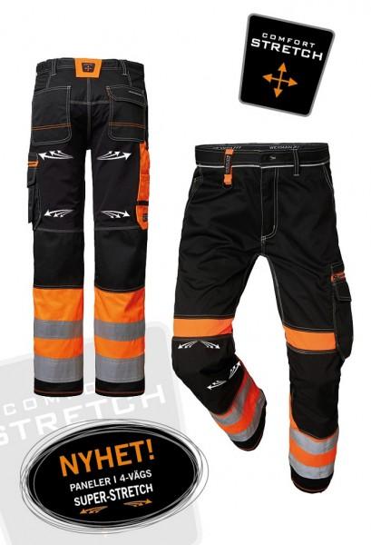 Wexman Hose Comfort Super Stretch Kl. 1 schwarz/orange