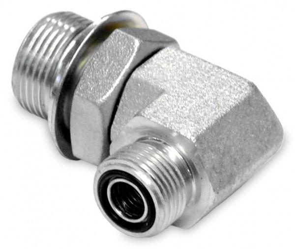 90° Adapter einstellbar ORFS AG x AG Reduzierung