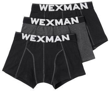 Wexman Boxershorts 3er-Pack XL schwarz/grau