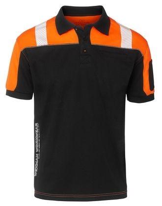 Wexman Poloshirt Quick-Dry schwarz/orange