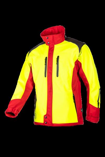 SIP Protection Fuyu Softshelljacke gelb/rot
