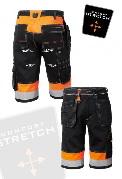 Wexman Shorts Comfort Stretch schwarz/orange