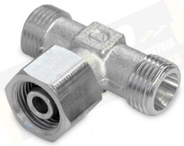 T-Adapter 10-S M18 stellbar o.Mutter/Schneidring