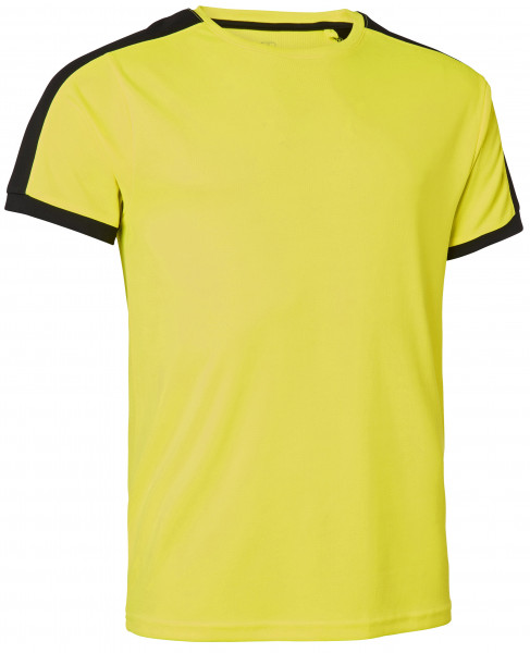 Wexman T-Shirt Quick Dry Contrast gelb/schwarz