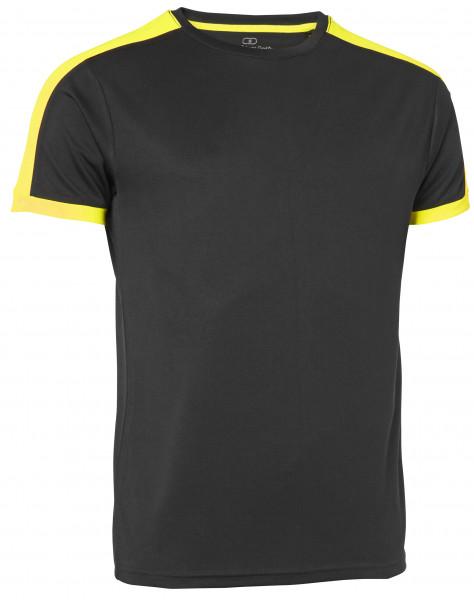 Wexman T-Shirt Quick Dry Contrast schwarz/gelb